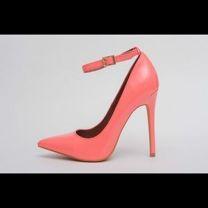 Shoe Republic LA Shoes - Coral patent pump stilettos